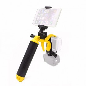 Telesin Dome Port Underwater 6 Inch Acrylic Base with Pistol Trigger for GoPro 5/6 - Yellow - 4