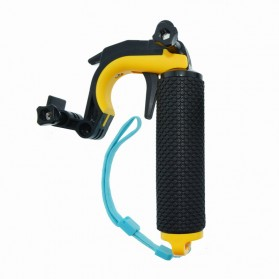 Telesin Dome Port Underwater 6 Inch Acrylic Base with Pistol Trigger for GoPro 5/6 - Yellow - 5