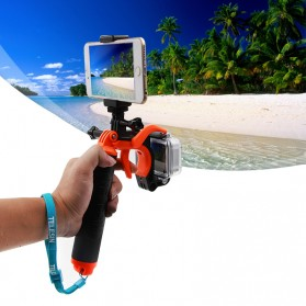 Telesin Dome Port Underwater 6 Inch Acrylic Base with Pistol Trigger for GoPro 5/6 - Yellow - 10