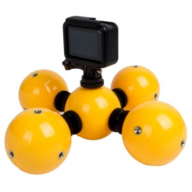 Telesin Floating Ball Bobber 5 Ball for GoPro Xiaomi Yi - Yellow - 1