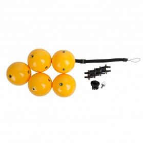 Telesin Floating Ball Bobber 5 Ball for GoPro Xiaomi Yi - Yellow - 5