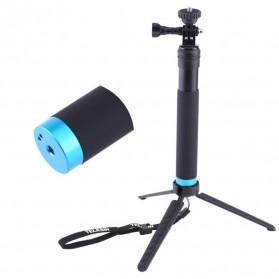 Telesin Tongsis Monopod Tripod dengan Mount GoPro & Smartphone Holder - Black - 8