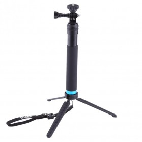 Telesin Tongsis Monopod Tripod dengan Mount GoPro & Smartphone Holder - Black - 9