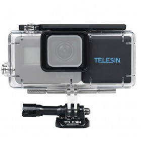 Telesin Extended Battery 2300mAh with Waterproof Case for GoPro Hero 6/5 - Black - 1