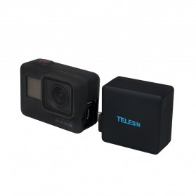 Telesin Extended Battery 2300mAh with Waterproof Case for GoPro Hero 6/5 - Black - 9