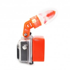 Telesin Teeth Mount Kamera Aksi GoPro Xiaomi - GP-MTM-001 - Orange - 5