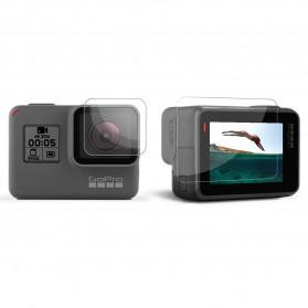Telesin Tempered Glass Lens & LCD Screen 1 PCS for GoPro Hero 5/6/7 - Transparent - 2