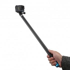 Telesin Tongsis Monopod Super Long Carbon Fiber 2.7M GoPro/Xiaomi Yi - Black - 3