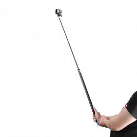 Telesin Tongsis Monopod Super Long Carbon Fiber 2.7M GoPro/Xiaomi Yi - Black - 4