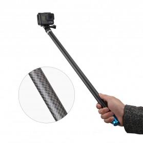 Telesin Tongsis Monopod Super Long Carbon Fiber 2.7M GoPro/Xiaomi Yi - Black - 6