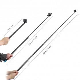 Telesin Tongsis Monopod Super Long Carbon Fiber 2.7M GoPro/Xiaomi Yi - Black - 7
