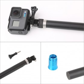 Telesin Tongsis Monopod Super Long Carbon Fiber 2.7M GoPro/Xiaomi Yi - Black - 8