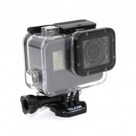 Telesin Underwater Waterproof Case 45m Removeable Lens Filter for GoPro Hero 5/6/7 - Black