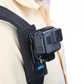 TELESIN Backpack Shoulder Strap Mount for GoPro Xiaomi Yi GP-BPM-003 - Black - 4