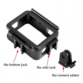 Telesin Vertical Frame Housing Case Bumper for GoPro Hero 5/6/7 - GP-FMS-007 - Black - 5