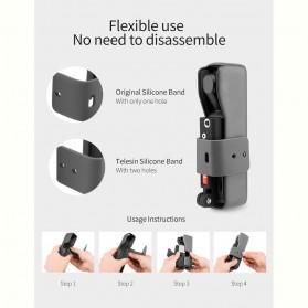 Telesin Koala Bracket Stand Holder Grip Case Multifungsi for DJI Osmo Pocket - OS-KLH-001 - Black - 4