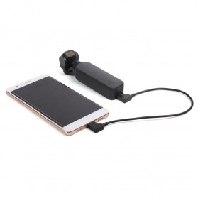 Telesin Kabel Data USB Type C to Micro USB for DJI OSMO Pocket - OP-X9169 - Black