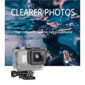 Telesin Waterproof Case Touchable Cover For GoPro Hero 5/6/7 - GP-WTP-504 - Transparent - 8
