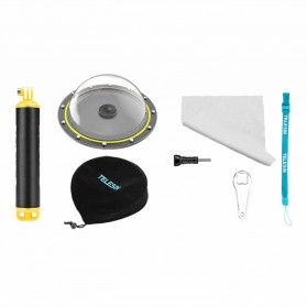 Telesin Dome Underwater Case 6 Inch Waterproof 30M for DJI Osmo  - OS-DMP-001 - Transparent - 4