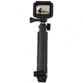 Telesin Tongsis Monopod 3 Way Foldable Selfie Stick - GP-MFW-300 - Black - 2