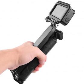 Telesin Tongsis Monopod 3 Way Foldable Selfie Stick - GP-MFW-300 - Black - 3