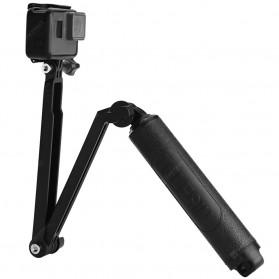 Telesin Tongsis Monopod 3 Way Foldable Selfie Stick - GP-MFW-300 - Black - 4