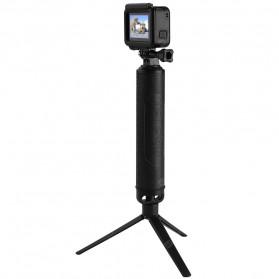 Telesin Tongsis Monopod 3 Way Foldable Selfie Stick - GP-MFW-300 - Black - 5