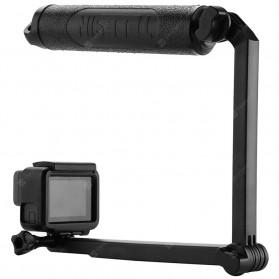 Telesin Tongsis Monopod 3 Way Foldable Selfie Stick - GP-MFW-300 - Black - 6