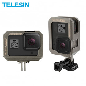 Telesin Frame Housing Case Bumper Aluminium for GoPro Hero 8 - GP-FMS-802 - Black