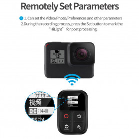 Telesin Smart WiFi Remote Control LCD for GoPro - GP-RMT-T02 - Black - 7