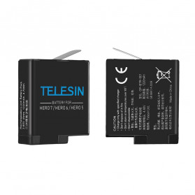 Telesin Charger Baterai 2 Slot + Charger WiFi Remote Control with 2xBattery for GoPro Hero 5/6/7 - GP-BnC-501 - Black - 5