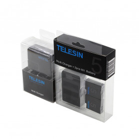 Telesin Charger Baterai 2 Slot + Charger WiFi Remote Control with 2xBattery for GoPro Hero 5/6/7 - GP-BnC-501 - Black - 8