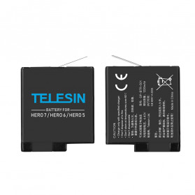 TELESIN Charger Baterai 3 Slot Storage Box with 2xBattery for GoPro Hero 5/6/7 - GP-BnC-502 - Black - 6