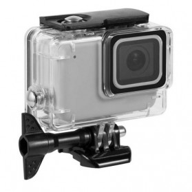 Telesin Underwater Waterproof Case 45m for GoPro Hero 7 Silver White - GP-WTP-701 - Black