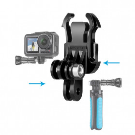 Telesin Dual Mount J Hook Adapter for GoPro - GP-MTB-T02 - Black - 2