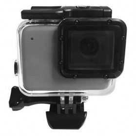 Telesin Underwater Waterproof Case 45m with Extra Toucheable Cover for GoPro Hero 7 Silver White - GP-WTP-702 - Black