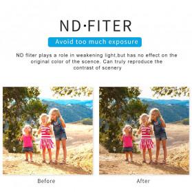 Telesin Lensa Neutral Density ND Filter Lens ND4 ND8 ND16 3 PCS for GoPro Hero 5/6/7 - GP-FLT-ND1 - Black - 6