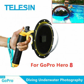 Telesin Dome Port Underwater 6 Inch Acrylic Base for GoPro Hero 8 - GP-DMP-T08 - Yellow