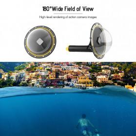 Telesin Dome Port Underwater 6 Inch Acrylic Base for GoPro Hero 8 - GP-DMP-T08 - Yellow - 3