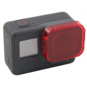 Telesin Lensa Red Diving Filter Lens for GoPro Hero 5/6/7 - GP-FLT-501 - Red