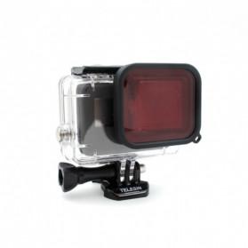 Telesin Lensa Red Diving Filter Lens for GoPro Hero 5/6/7 Case GP-WTP-501 - GP-FLT-502 - Red - 2