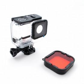 Telesin Lensa Red Diving Filter Lens for GoPro Hero 5/6/7 Super Suit Case - GP-FLT-504 - Red - 4