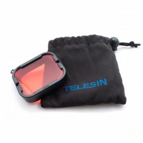 Telesin Lensa Red Diving Filter Lens for GoPro Hero 5/6/7 Super Suit Case - GP-FLT-504 - Red - 5