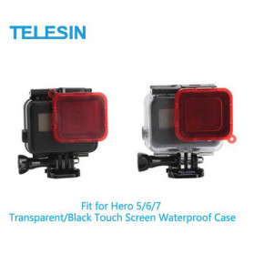 Telesin Lensa Red Diving Filter Lens for GoPro Hero 5/6/7 Case GP-WTP-504 - GP-FLT-502 - Red