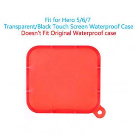 Telesin Lensa Red Diving Filter Lens for GoPro Hero 5/6/7 Case GP-WTP-504 - GP-FLT-502 - Red - 2