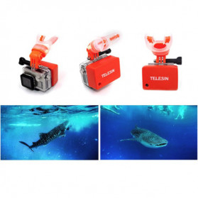 Telesin Bite Mouth Mount Diving Surfing Board Set for GoPro - GP-MTM-002 - Black - 8