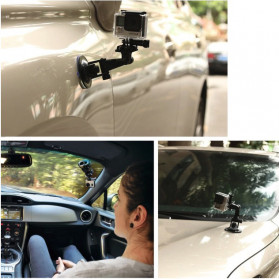 Telesin Car Windshield Suction Mount for GoPro - GP-SUC-003 - Black - 7