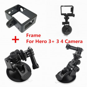 Telesin Car Windshield Suction Mount with Frame Case for GoPro 4/3/3+ - GP-SUC-004 - Black