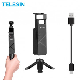 Telesin Portable Charger Case 3000mAh for DJI Osmo Pocket - OS-BHG-001 - Black