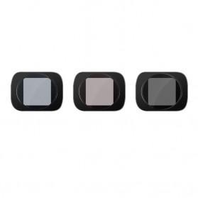 Telesin Lensa Neutral Density ND Filter Lens ND4 ND8 ND16 3 PCS for DJI Osmo Pocket - OS-FLT-ND1 - Black - 2